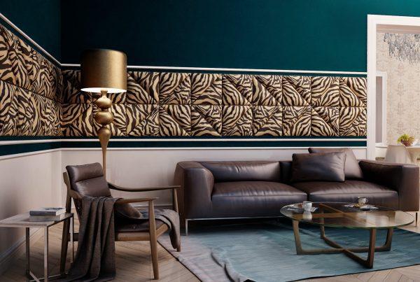 salon w stylu glamour wizualizacja wnętrza katowice