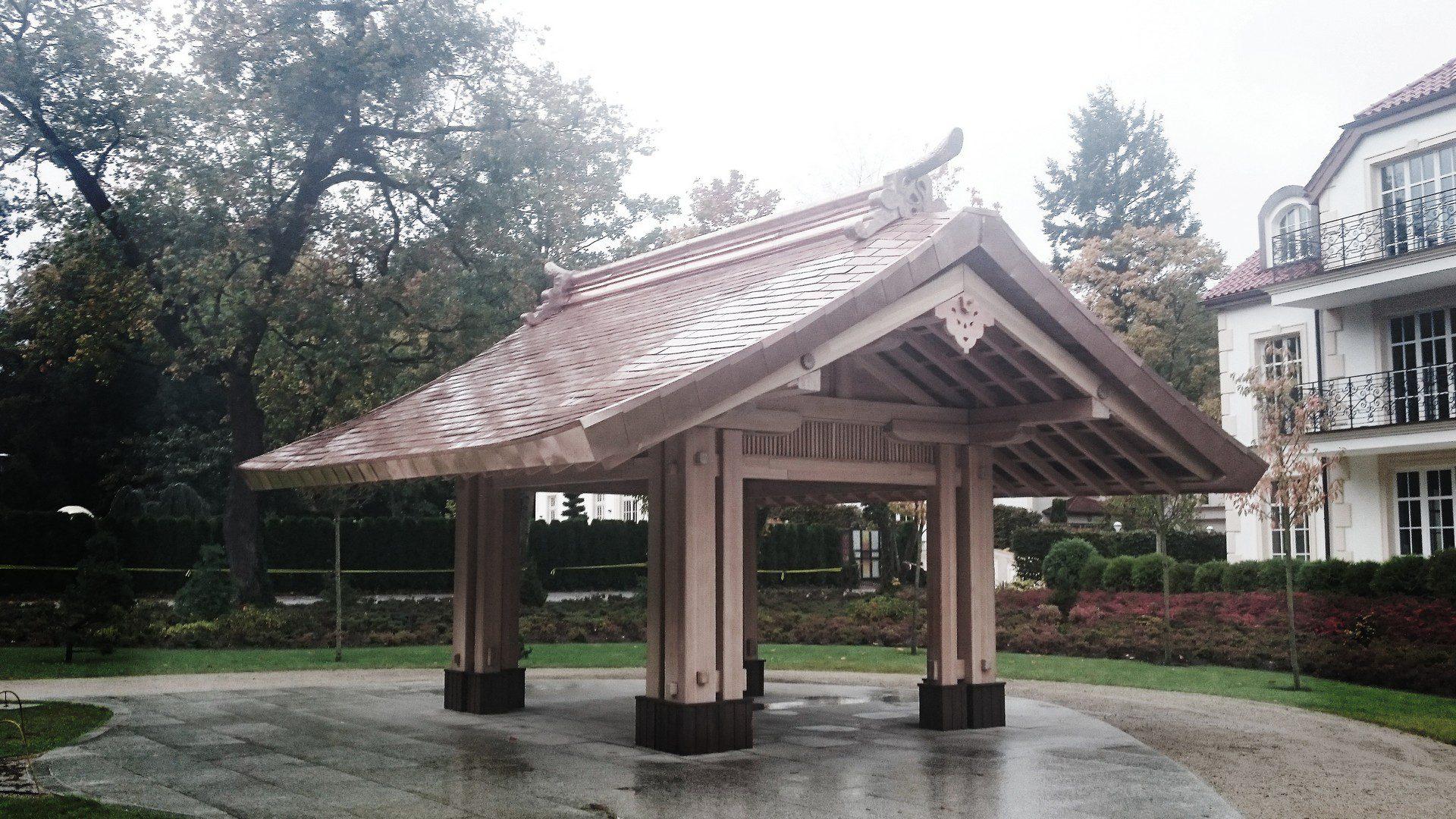 altana w stylu japońskim ogród oliwski w gdańsku