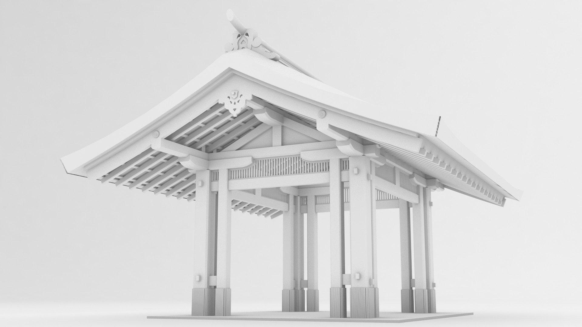 altana japońska model 3d