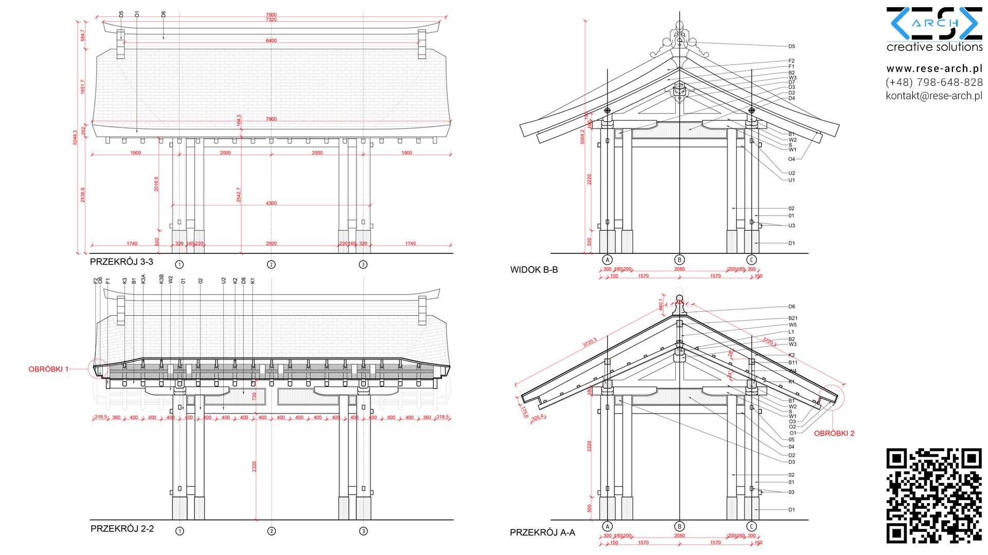 projekt wykonawczy altany japońskiej