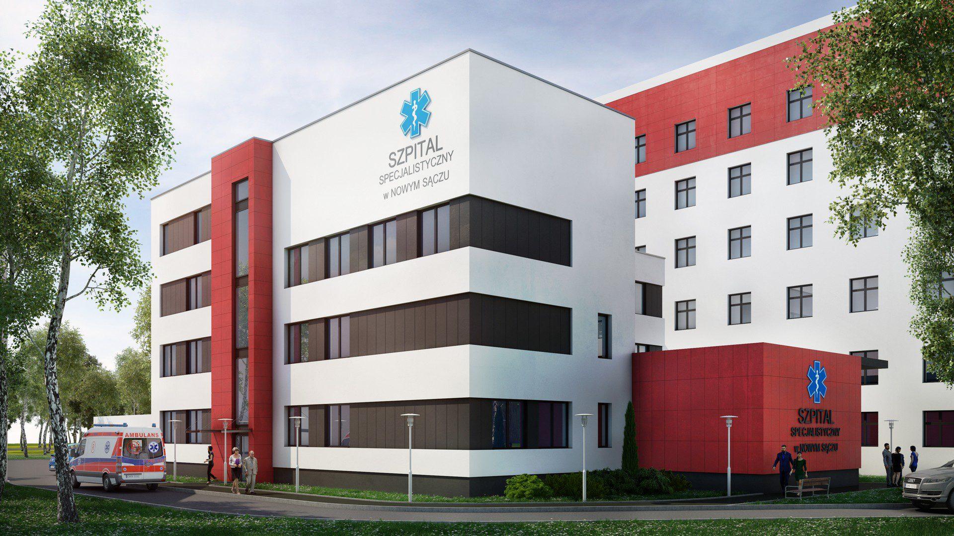 fotorealistyczna wizualizacja 3d inwestycji spitala