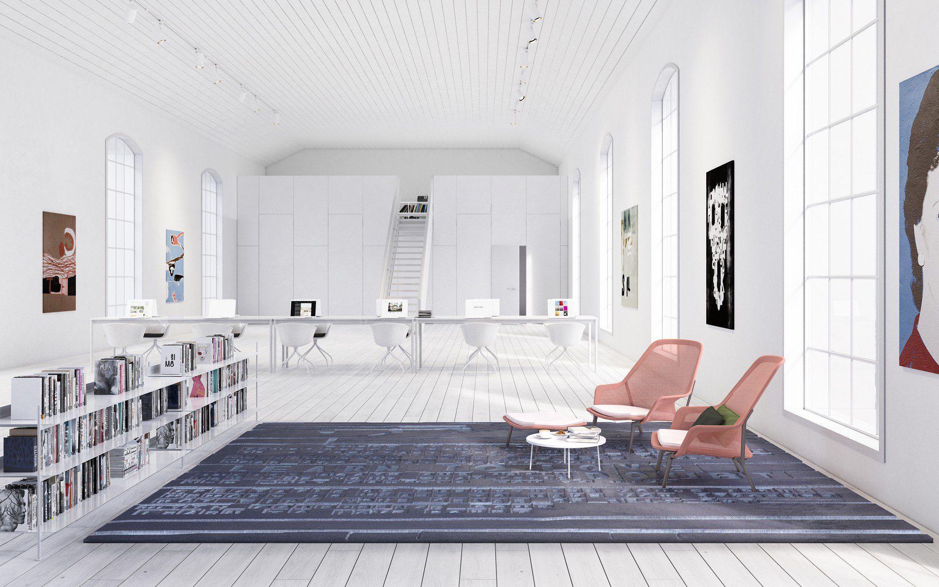 wizualizacja architektoniczna wnętrza biurowego