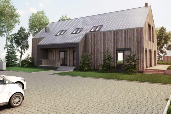 Nowoczesna stodoła biuro projekt budowlany