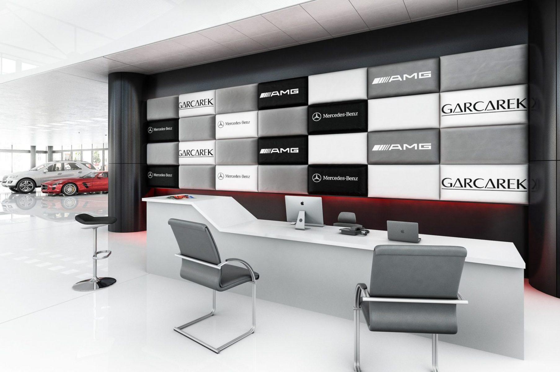 salon samochodowy wizualizacja wnętrza architektura