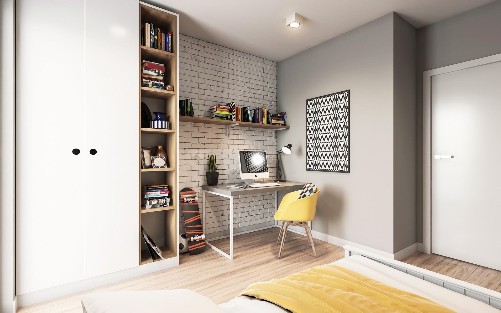 projekt wizualizacja aranżacja mieszkania w bloku pokój dziecka