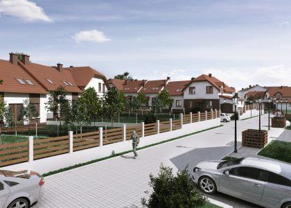wizualizacja 3d domów szeregowych w rudzie śląskiej