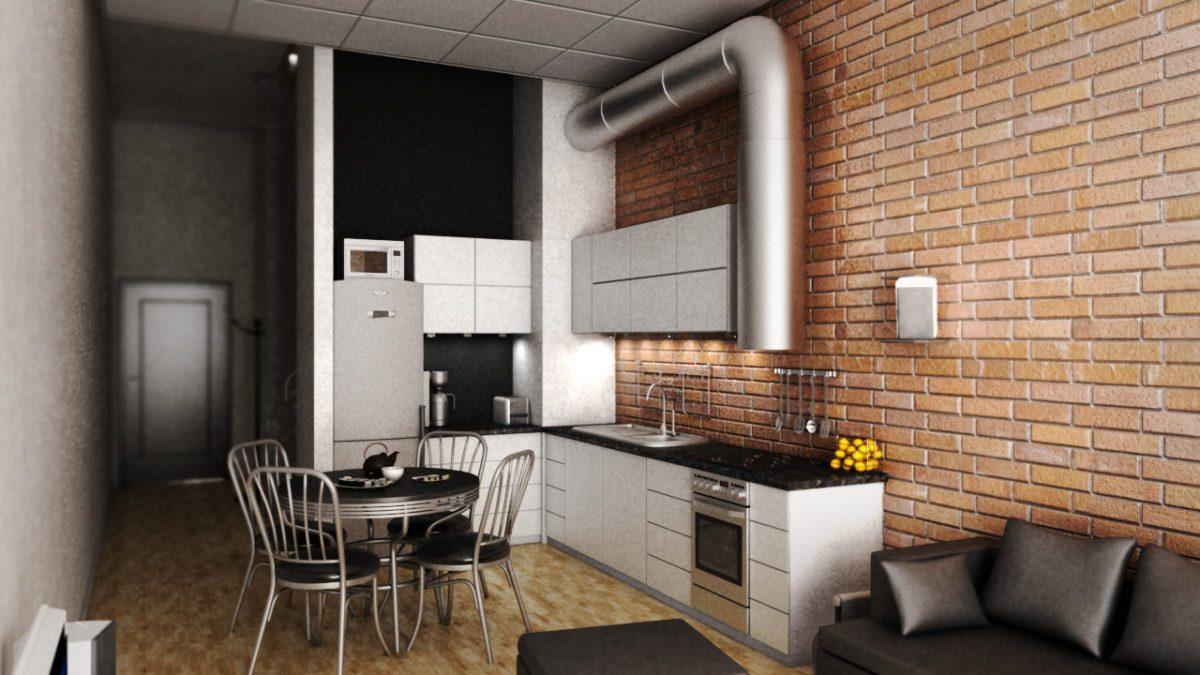 projekt mieszkania loft Gliwice