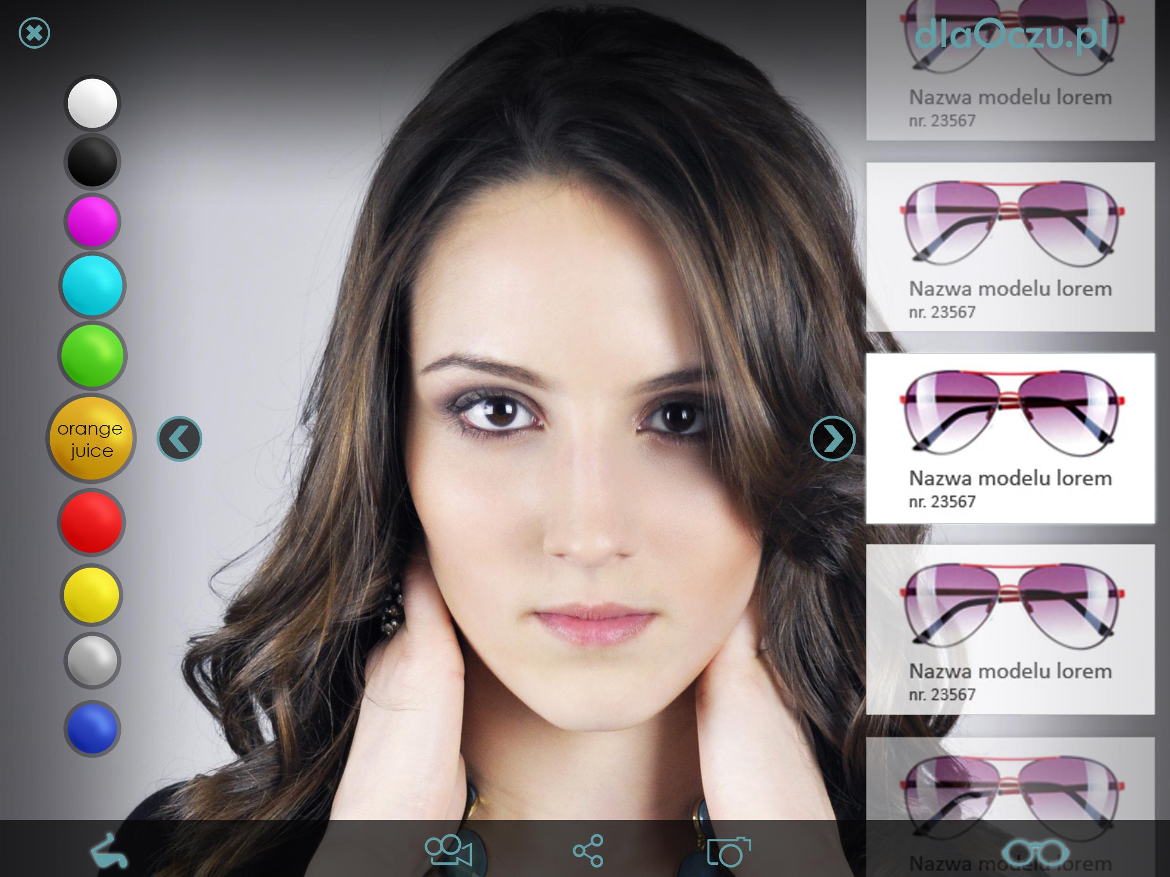 projekt graficzny wybór okularów