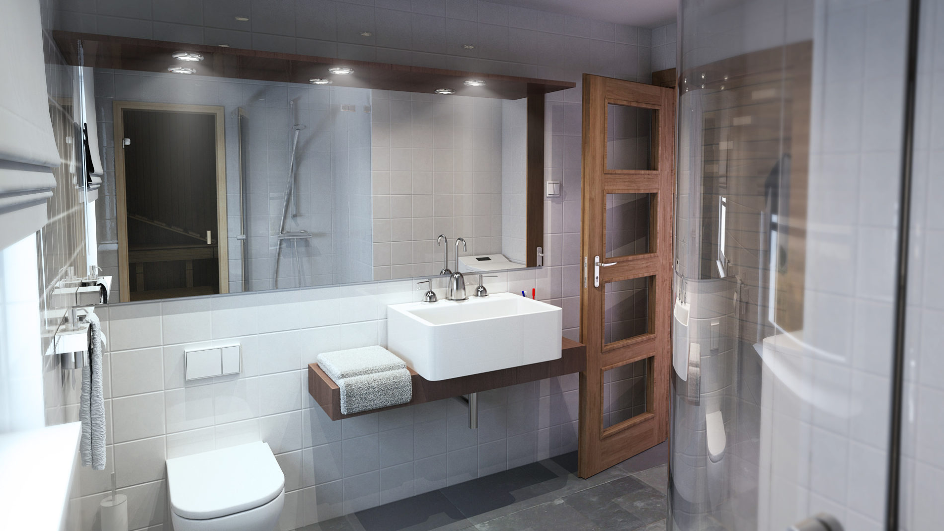 projekt 3d łazienki