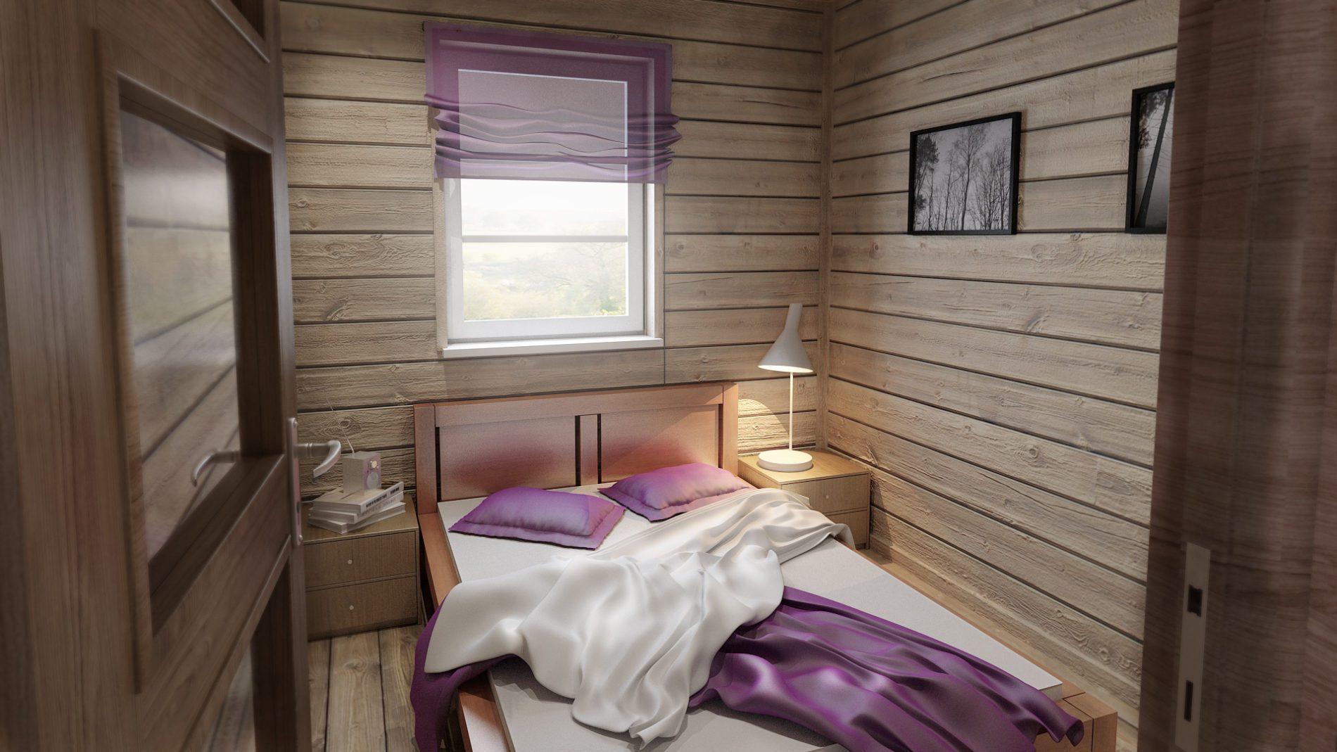 wizualizacja mini sypialni letnskowej