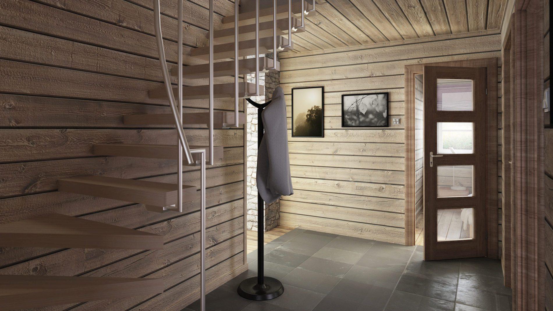 korytarz i wejście na piętro
