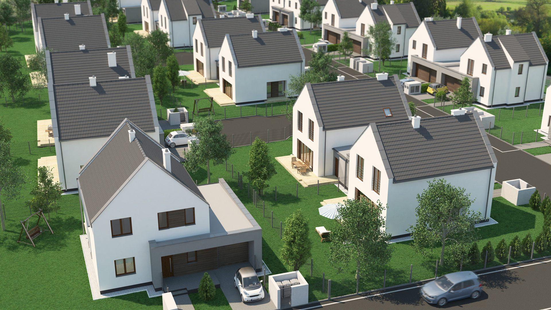 wizualizacja domów bliźniaczych
