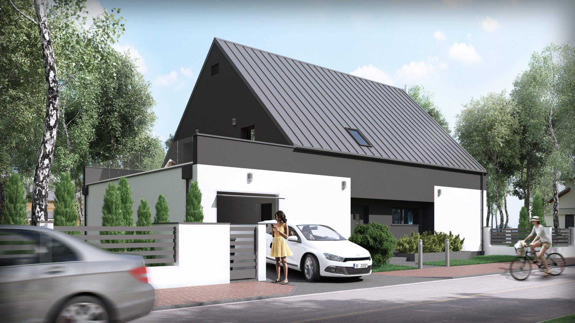 wizualizacja architektoniczna domu jednorodzinnego