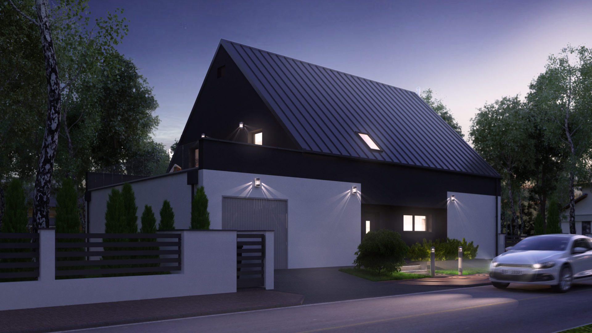 fotorealistyczna wizualizacja domu w Siemanowicach Śląskich