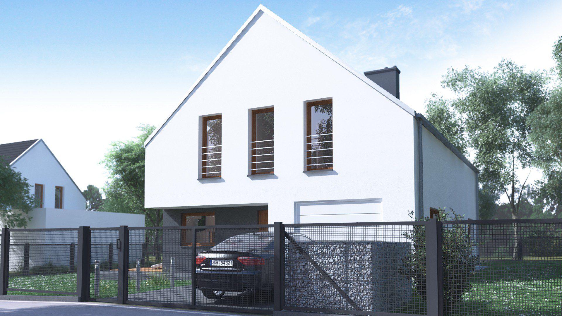 indywidualny projekt domu jednorodzinnego ruda śląska front