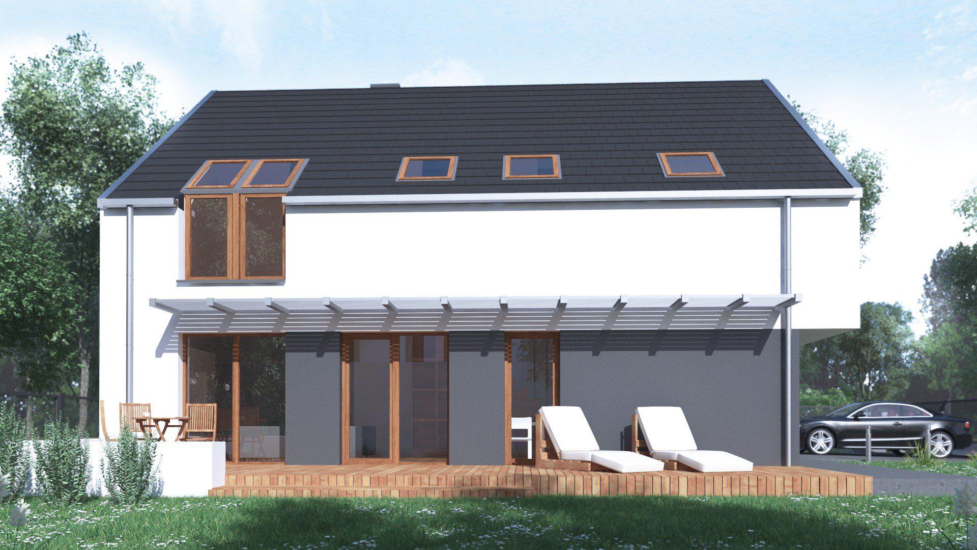 indywidualny projekt domu jednorodzinnego ruda śląska ogród