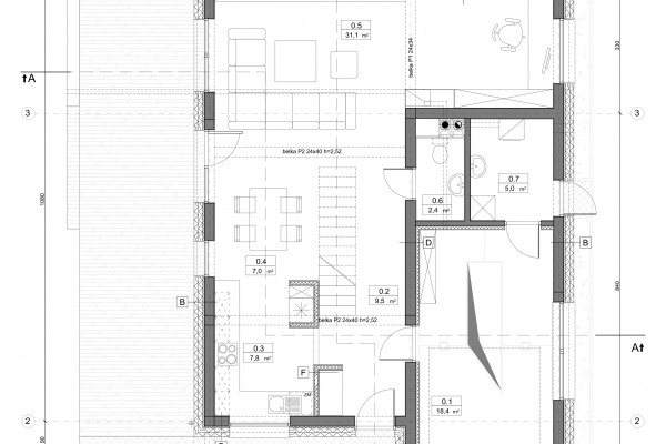 projekt domu indywidualnego rzut parteru