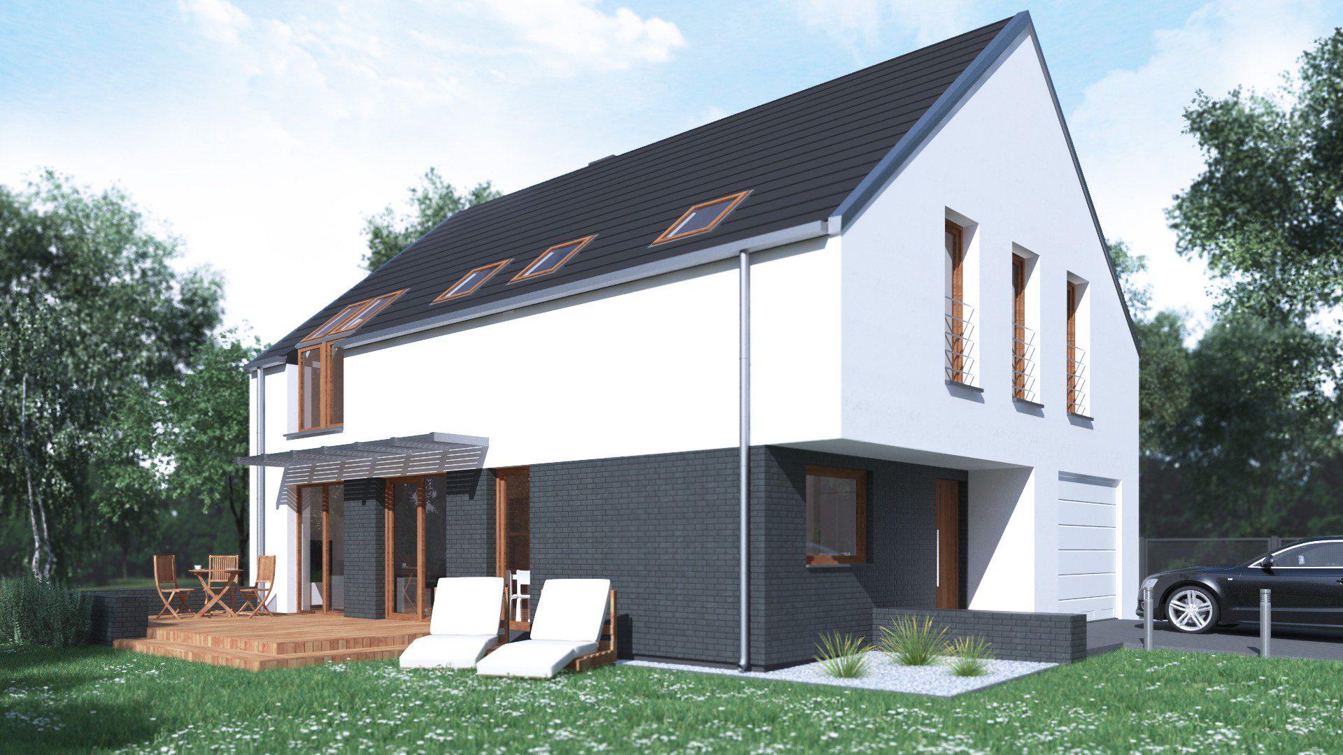 projekt domu opcja 1