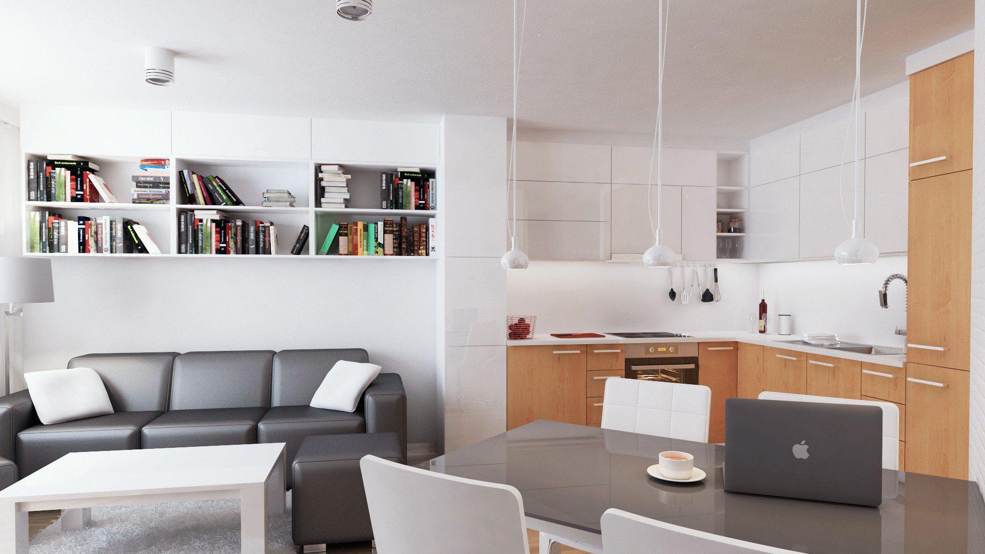 projekt mieszkania chorzów osiedle zakątek kuchnia widok