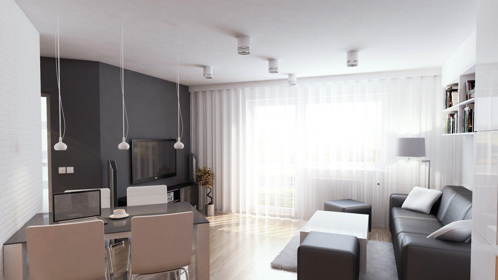 projekt mieszkania chorzów osiedle zakątek pokój dzienny