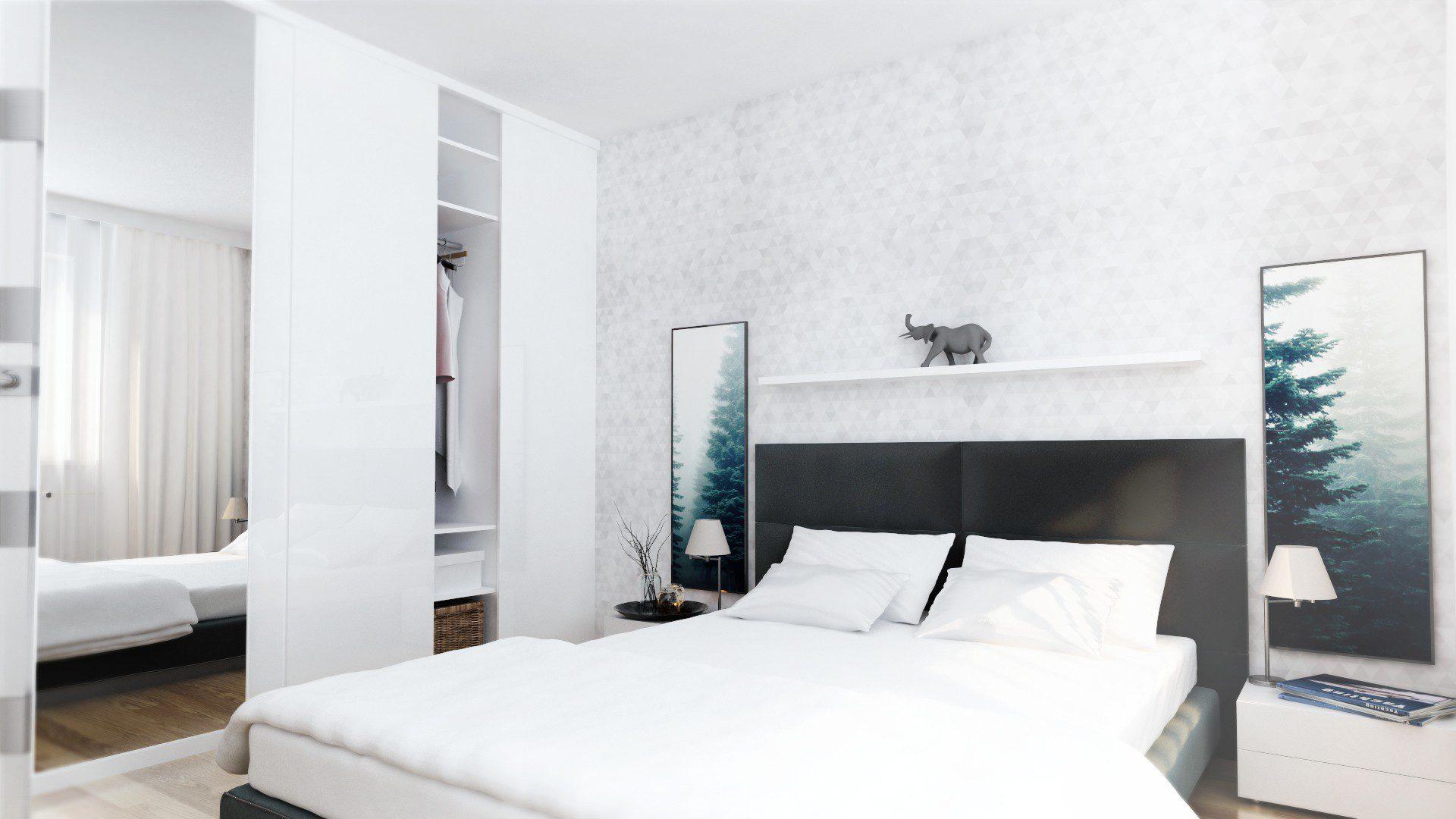 projekt mieszkania chorzów osiedle zakątek sypialnia