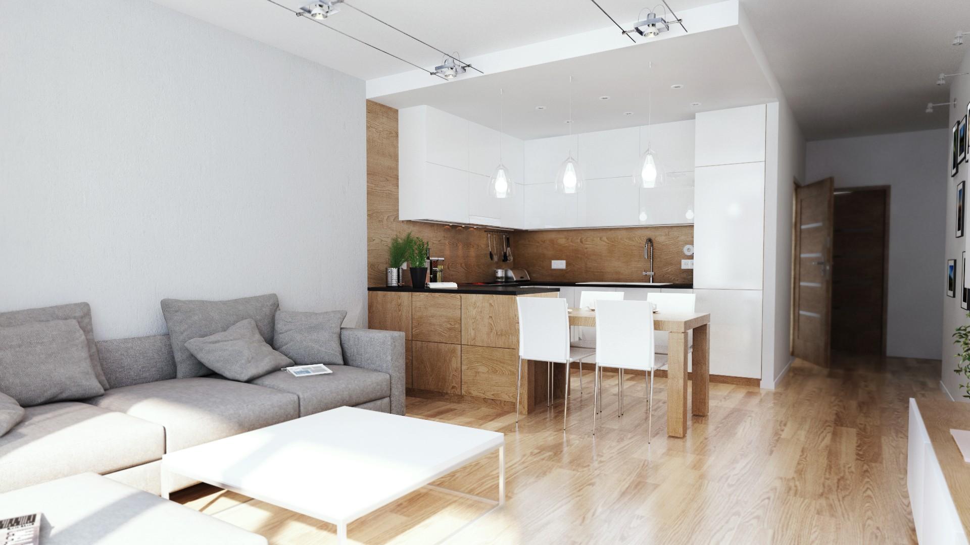 Projekt aranżacji mieszkania w Chorzowie, Śląskie - nowoczesna kuchnia