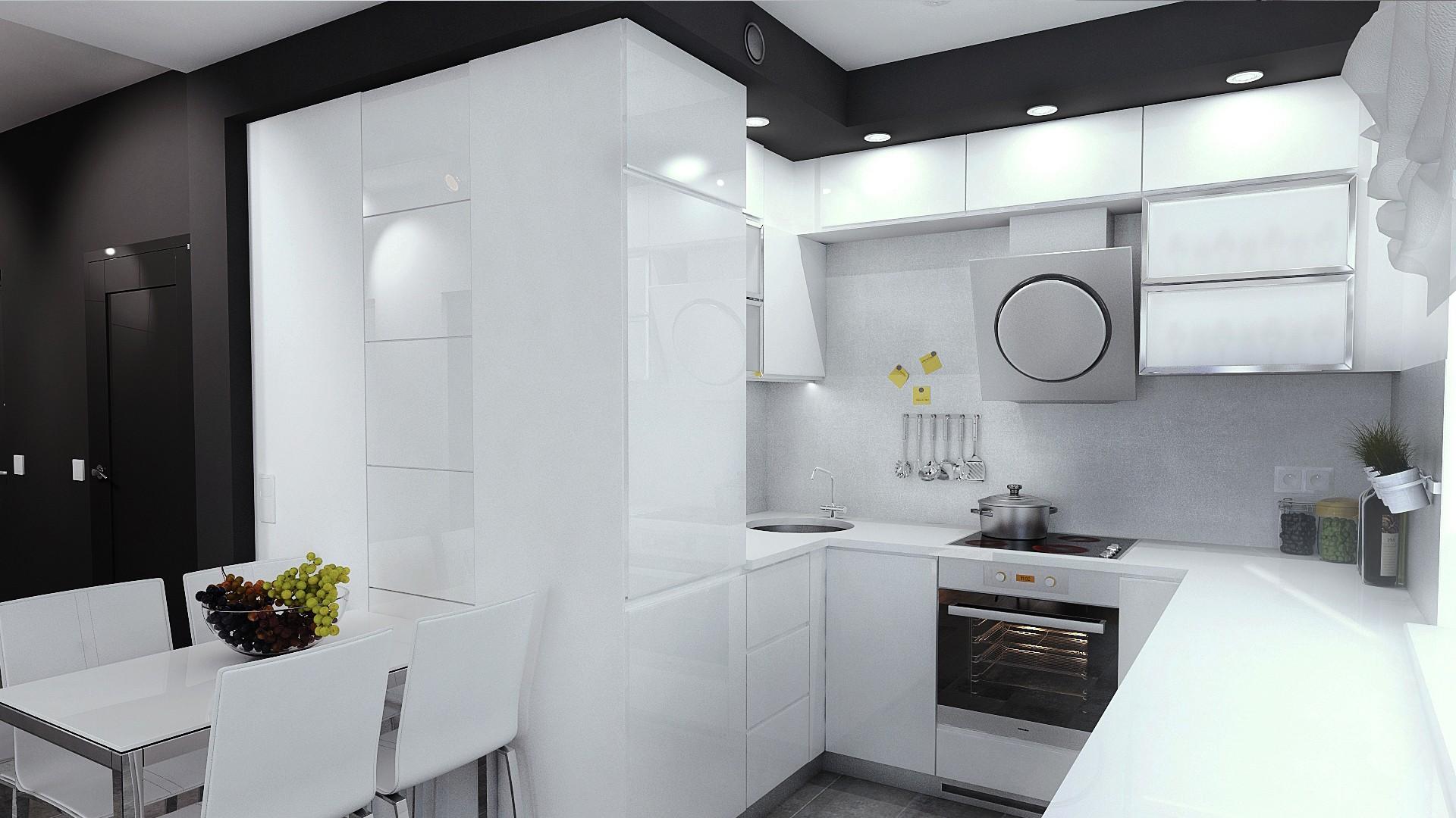 wizualizacja kuchni w mieszkaniu w Katowicach