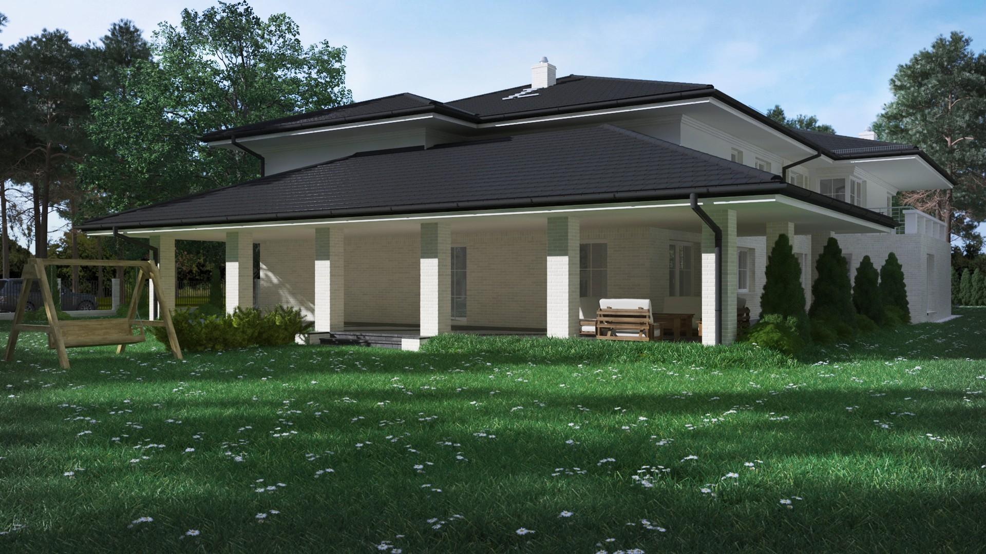 wizulizacja 3d projektu domu parterowego śląskie