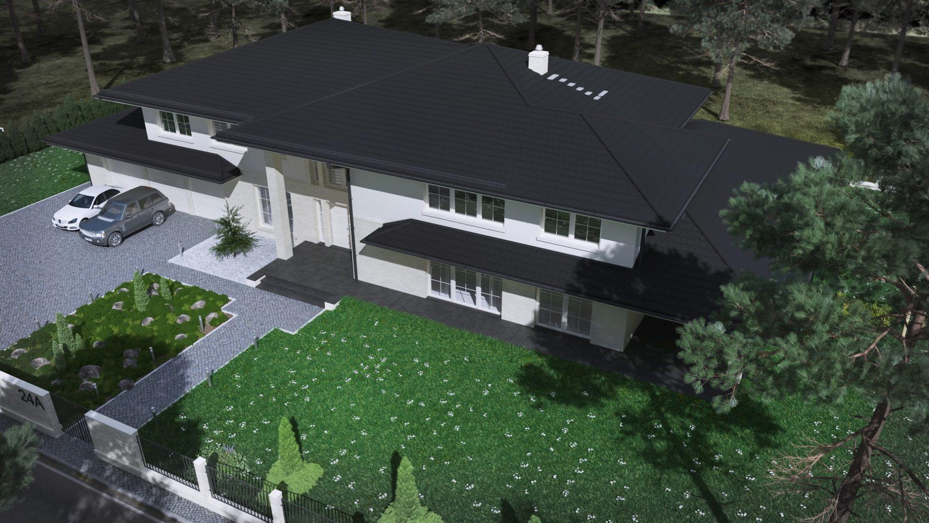 dom jednorodzinny wizualizacja projektu