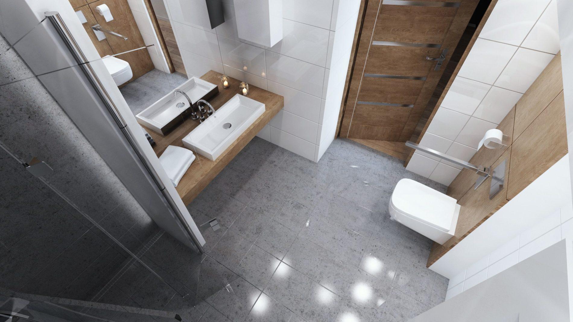 nowoczesna łazienka dostosowana dla niepełnosprawnych