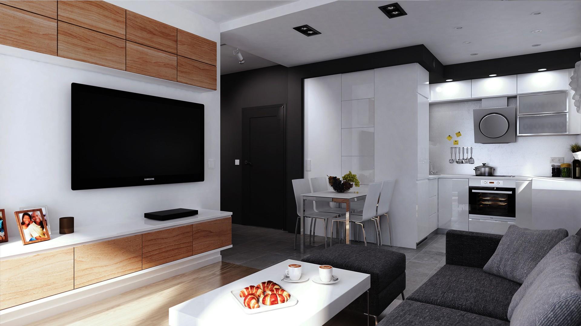 projekt aranżacji wnętrza mieszkania w Katowicach