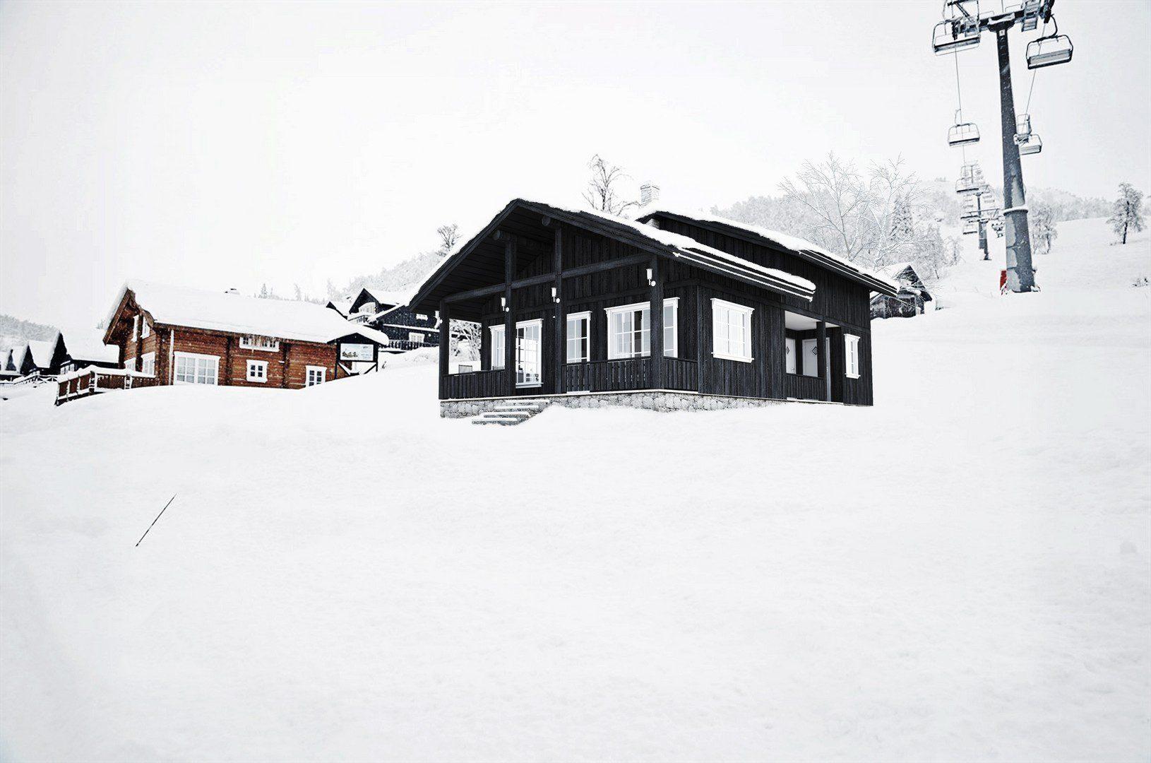 dom letniskowy w górach w norwegii