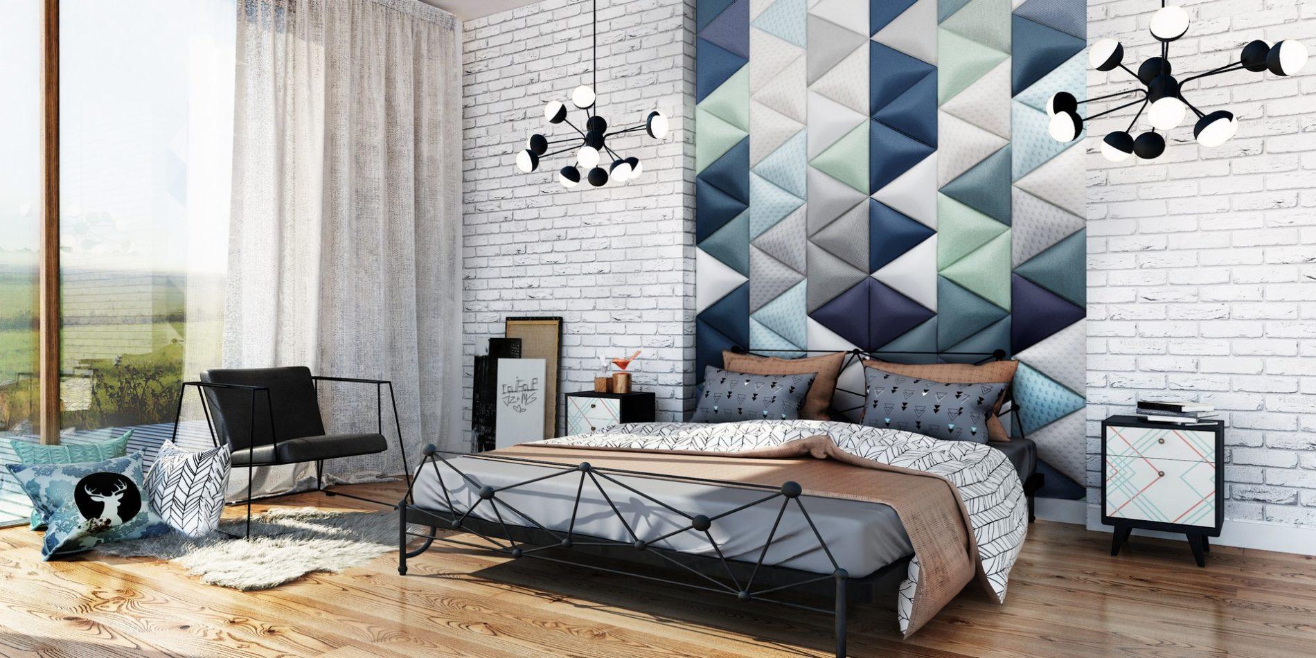 sypialnia z płytkami dappi.pl wizualizacja architektoniczna