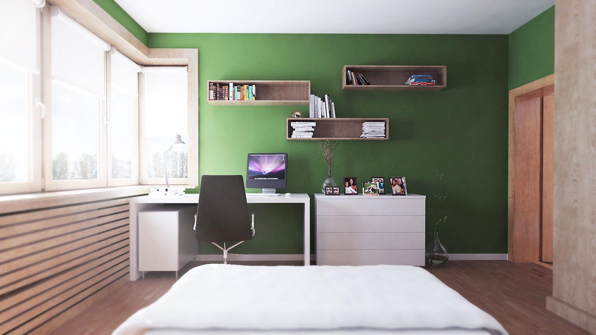 projekt sypialni w kamienicy w Katowicach