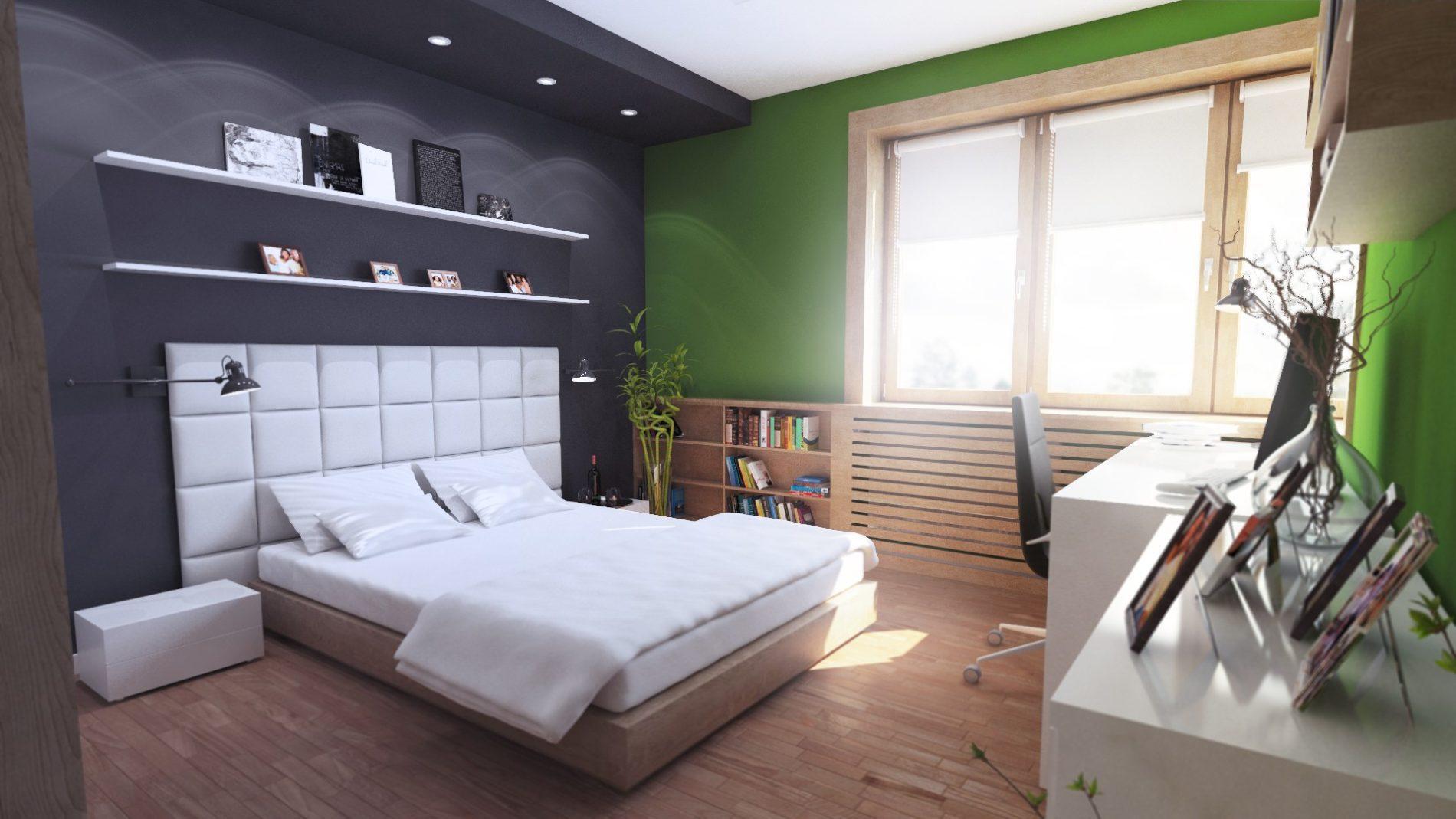 duże łóżko w sypialni katowice