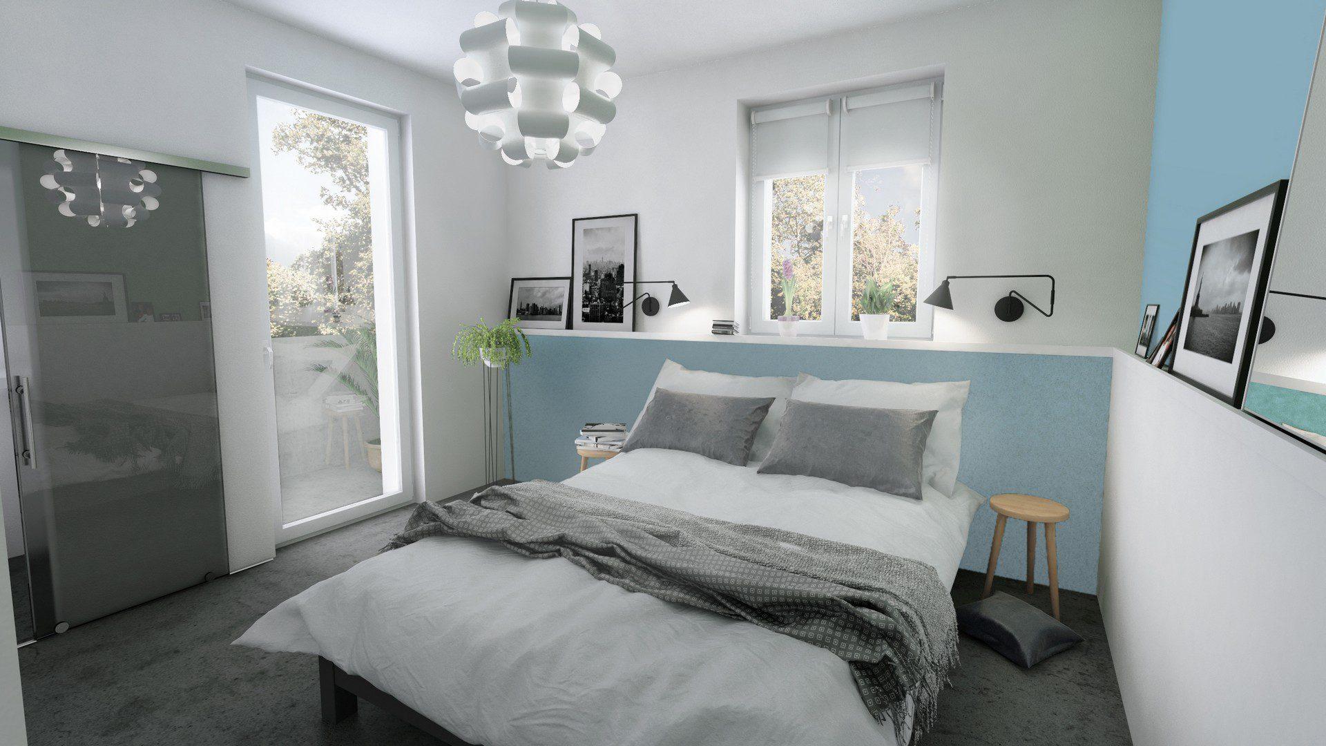 sypialnia wizualizacja architektoniczna