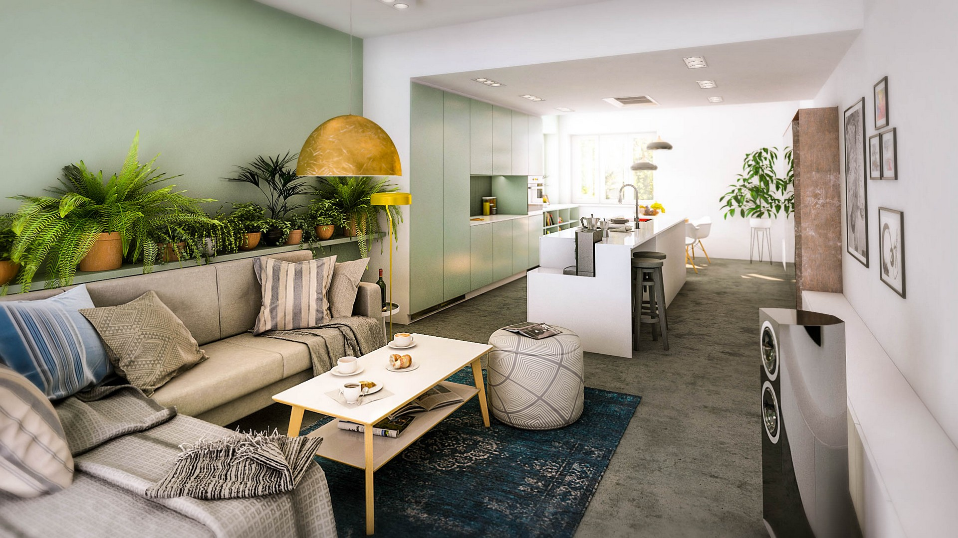 wizualizacja wnętrza mieszkania w katowicach