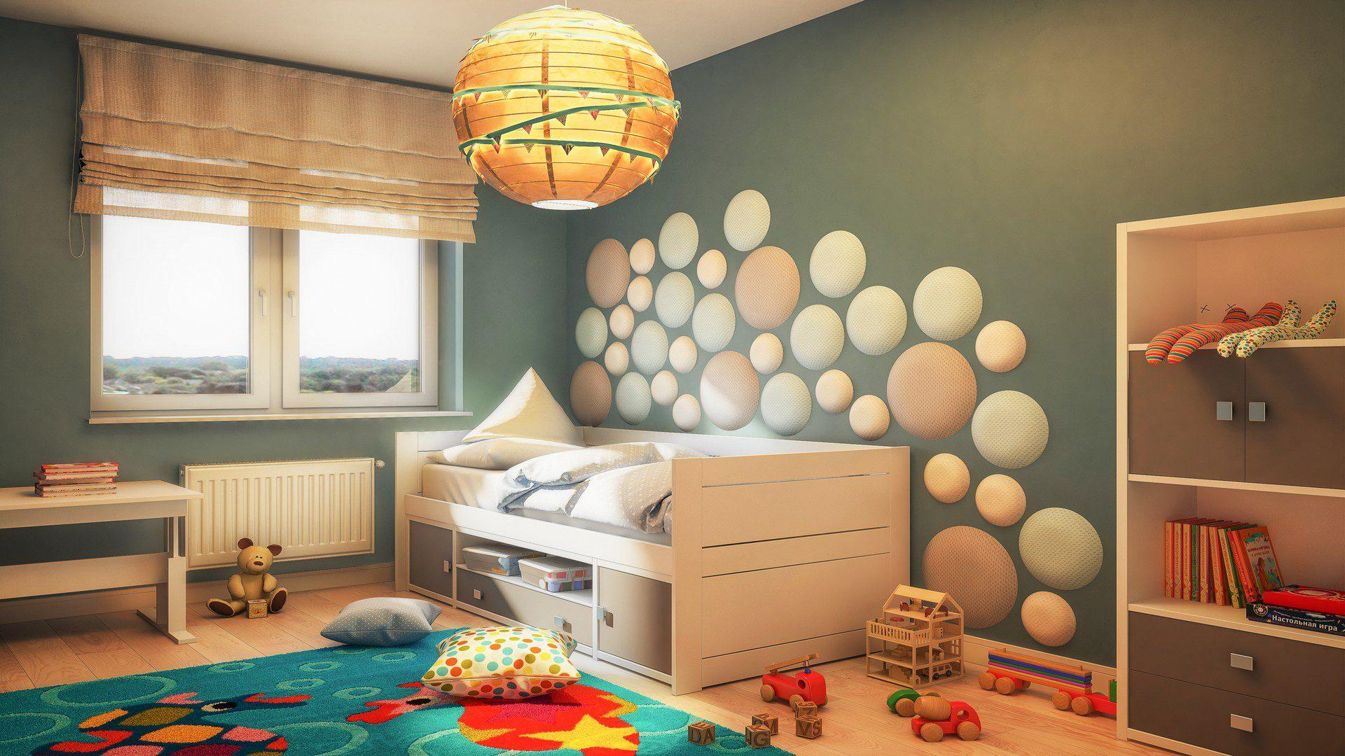pokój dziecka wizualizacja aranżacja 3d