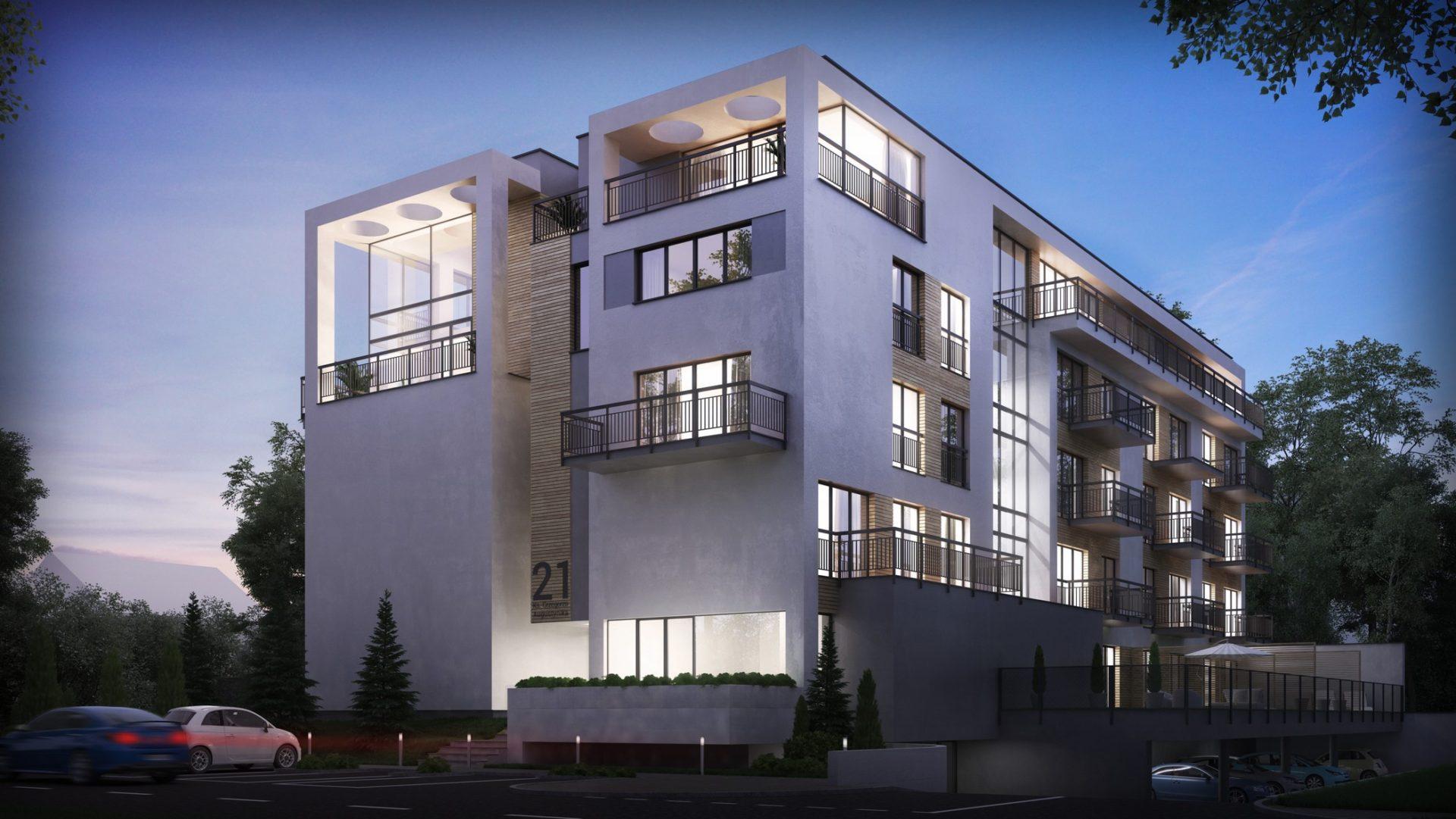 wizualizacja domu wielorodzinnego deweloper mieszkania Dąbrowa Górnicza