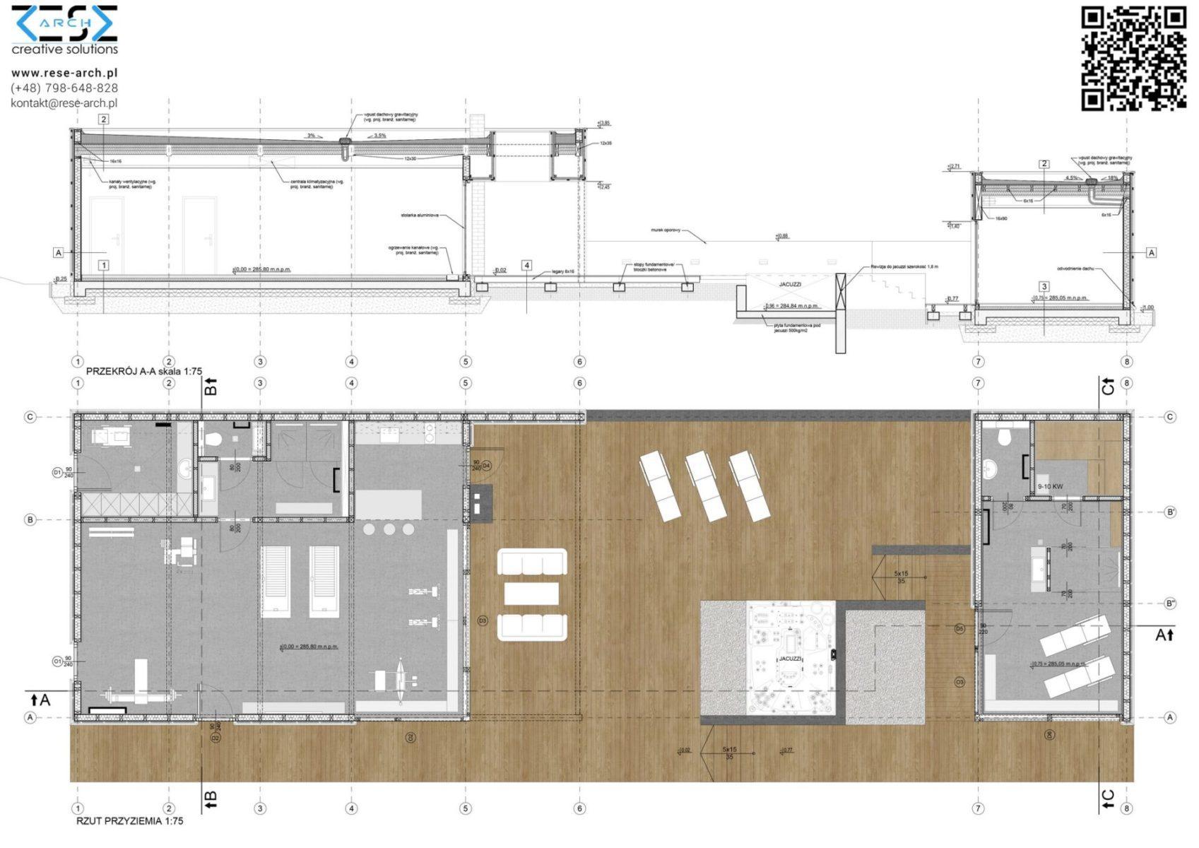 projekt architektoniczny budowlany siłowni i sauny w katowicach
