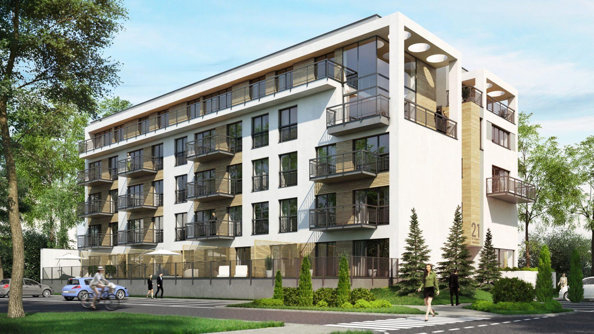 budynek mieszkalny wielorodzinny nowoczesny drewno śląsk