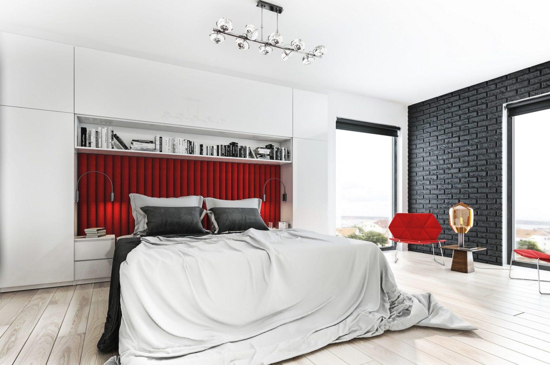 wnętrze mieszkania wizualizacja sypialni