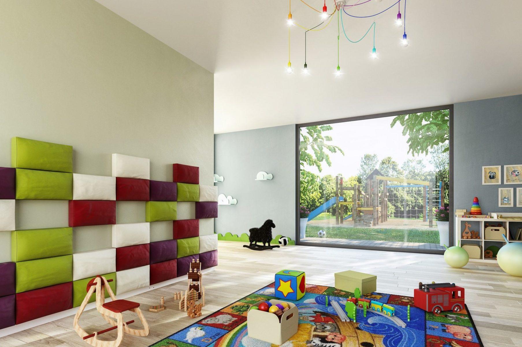 przedszkole wizualizacja architektoniczna wnętrza