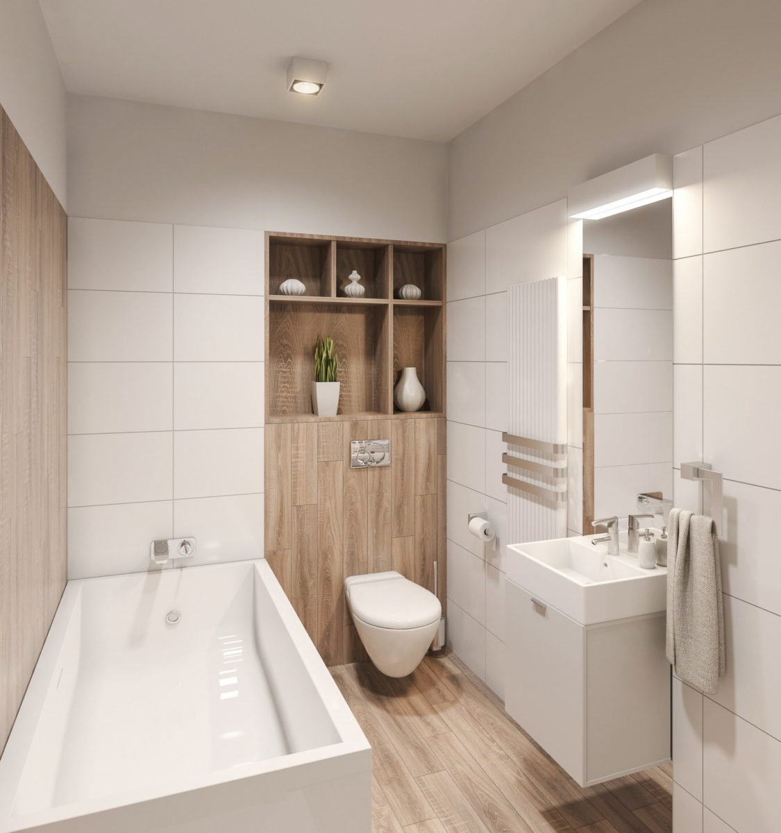 łazienka w bloku projekt wizualizacja aranżacja