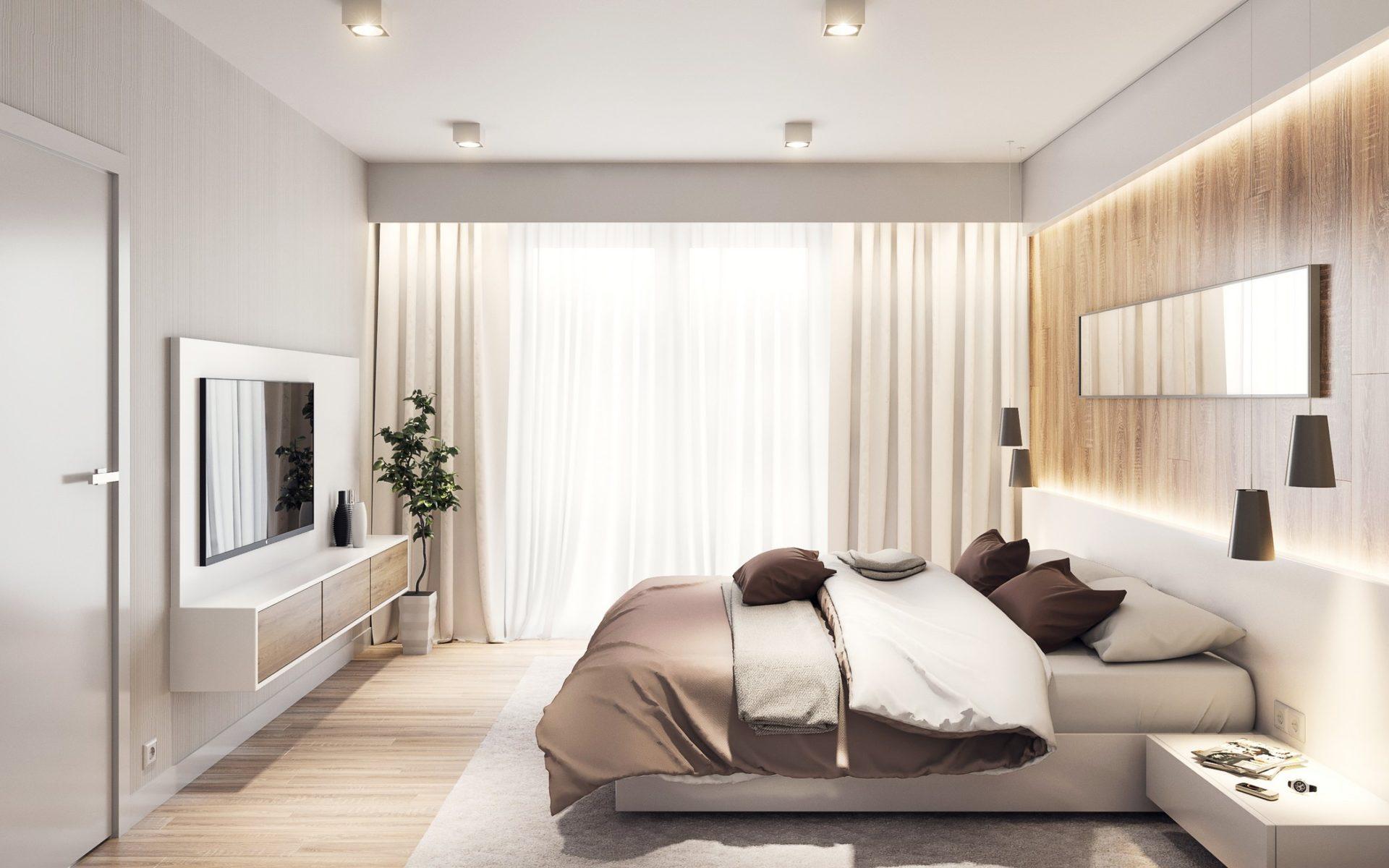 sypialnia w bloku aranżacja projekt wizualizacja