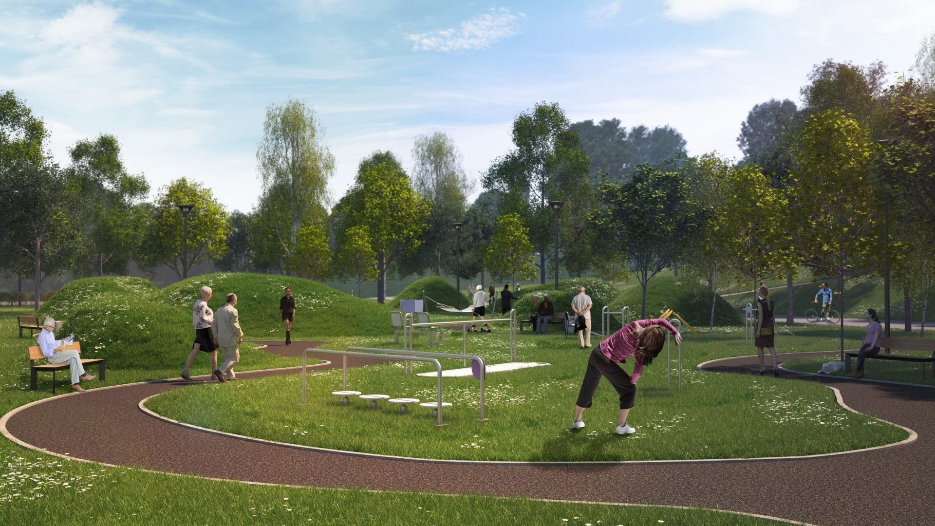 strefa seniora park hallera wizualizacje 3d