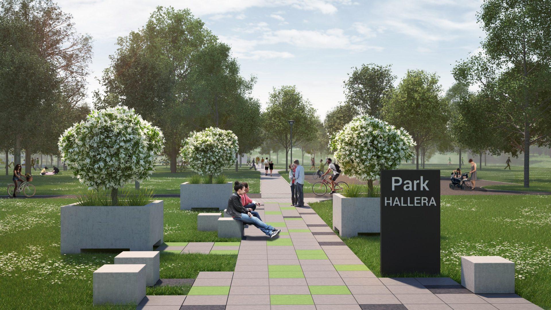 wizualizacje 3d urbanistyczne parku