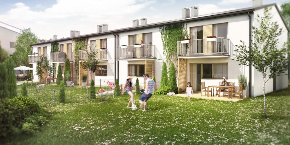Wizualizacja zabudowy szeregowej sosnowiec deweloper mieszkaniowy
