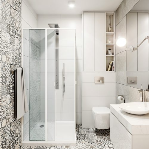 wizualizacja wnętrza łazienki śląsk Dąbrowa górnicza