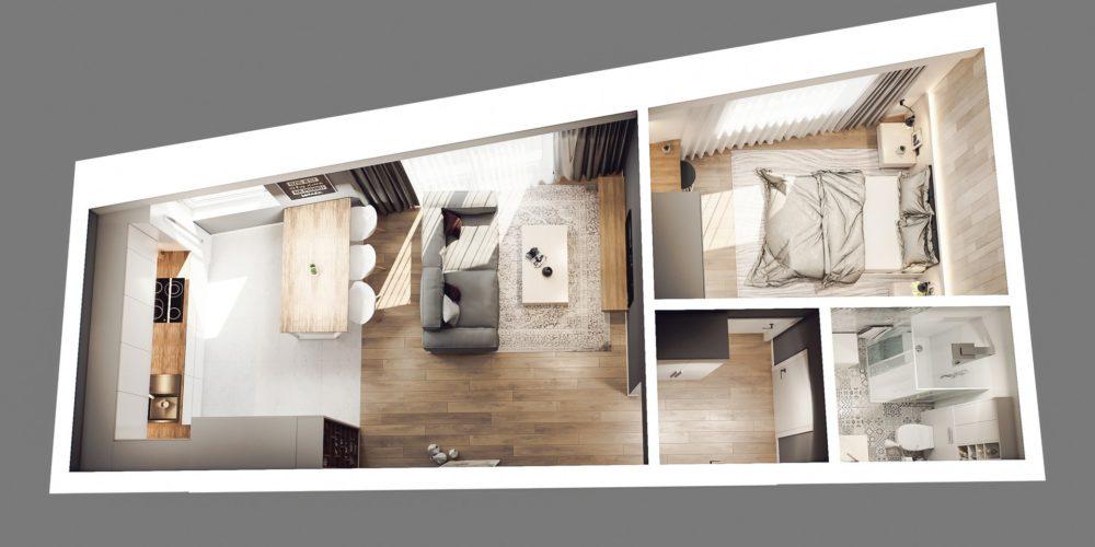 wizualizacja mieszkania śląsk dąbrowa górnicza